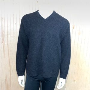 J Crew Sweater Shetland Wool Dark Gray Medium